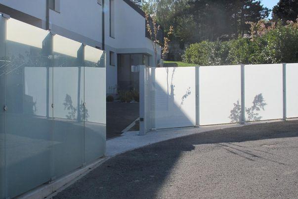 Sichtschutz Glass Clips  - mit Glas satiniert