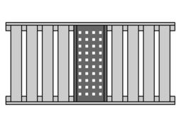 Vertikal mit Perfor