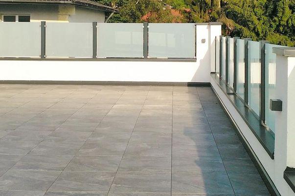 Glass-Klemmen-Geländer -
