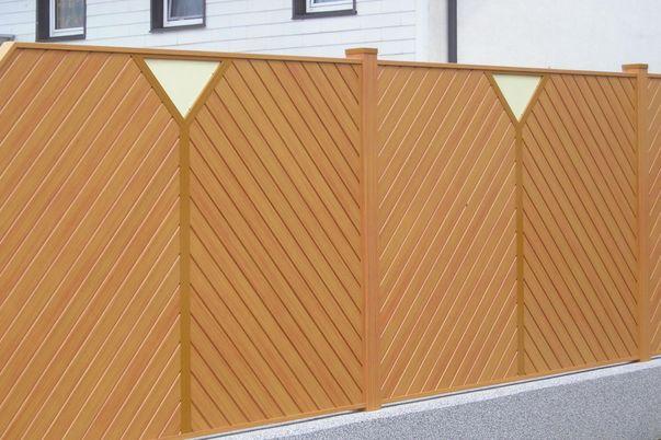 Sichtschutz Lattenfuellung Diagonal mit Ypsilo -