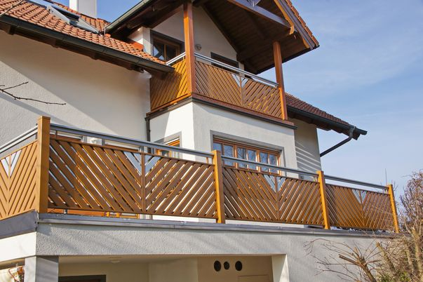 Latten-Füllung Geländer Diagonal mit Teiler