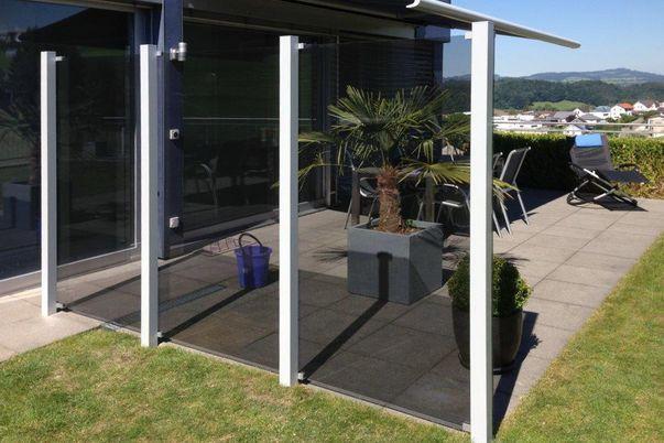 Sichtschutz-System Glass Clips  - (Glas nicht von Brix)