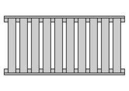 Vertikal mit Abstand