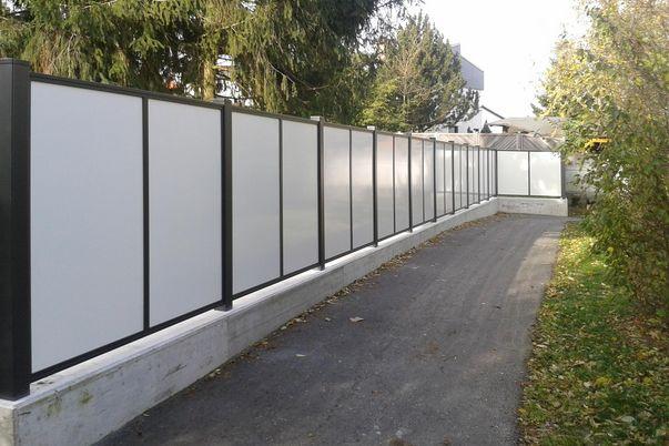 Flat Design Sichtschutzfelder Vollblech -