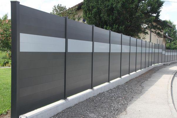 Sichtschutz-System Staketto150 - mit Schmuckfarbe
