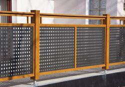 Flat-Design Geländer Lochblech