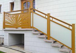 Glasal Geländer mit Flat-Design
