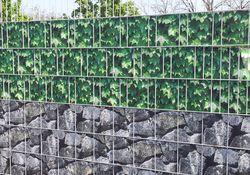 Draht-Gitter-Zaun mit Sichtschutz