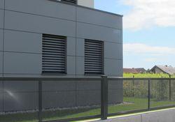 Flat-Design Zaun Lochblech