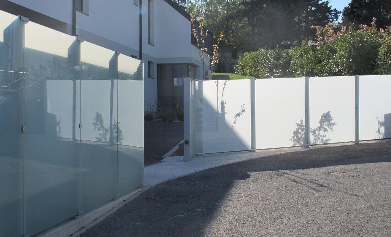 Brix Glass Clips Sichtschutz System Brix Sichtschutz aus Aluminium