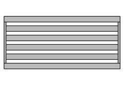 Staketen Horizontal 40 oder 60