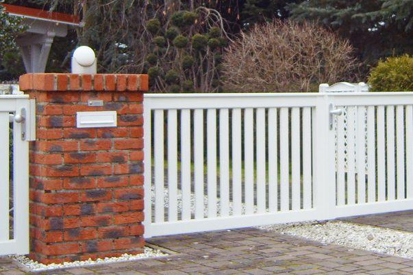Dresden Zaun & Tor - Tür, Tor und Zaunfeld Modell Dresden, ohne Stabüberstand unten.