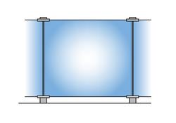 Glass-Clips Sichtschutz